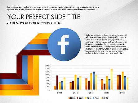 Facebook Data Driven Presentation, Slide 2, 03081, Presentation Templates — PoweredTemplate.com