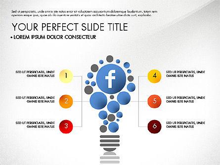 Facebook Data Driven Presentation, Slide 4, 03081, Presentation Templates — PoweredTemplate.com