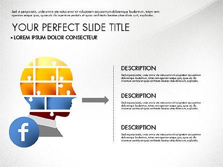 Facebook Data Driven Presentation, Slide 5, 03081, Presentation Templates — PoweredTemplate.com