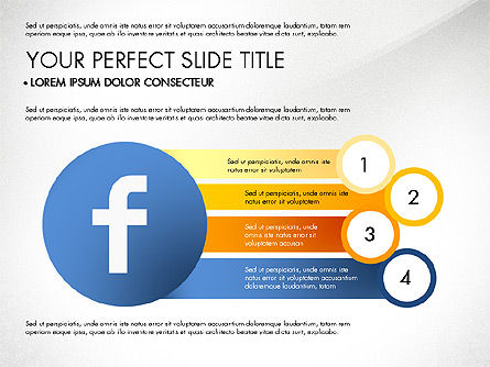 Facebook Data Driven Presentation, Slide 6, 03081, Presentation Templates — PoweredTemplate.com