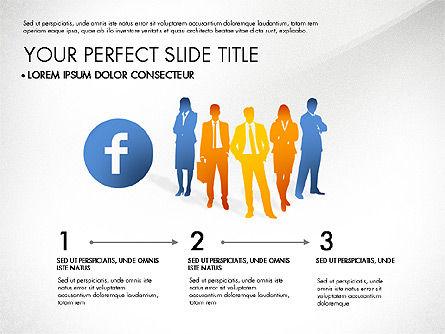 Facebook Data Driven Presentation, Slide 7, 03081, Presentation Templates — PoweredTemplate.com