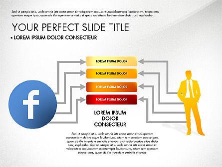 Facebook Data Driven Presentation, Slide 8, 03081, Presentation Templates — PoweredTemplate.com