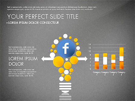 Facebook Data Driven Presentation, Slide 9, 03081, Presentation Templates — PoweredTemplate.com