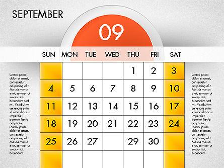 2016 Calendar, Slide 10, 03082, Timelines & Calendars — PoweredTemplate.com