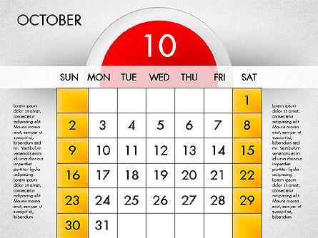 2016 Calendar, Slide 11, 03082, Timelines & Calendars — PoweredTemplate.com
