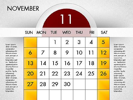2016 Calendar, Slide 12, 03082, Timelines & Calendars — PoweredTemplate.com