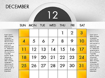 2016 Calendar, Slide 13, 03082, Timelines & Calendars — PoweredTemplate.com