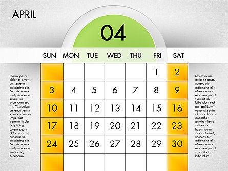 2016 Calendar, Slide 5, 03082, Timelines & Calendars — PoweredTemplate.com