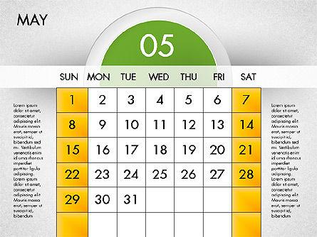 2016 Calendar, Slide 6, 03082, Timelines & Calendars — PoweredTemplate.com