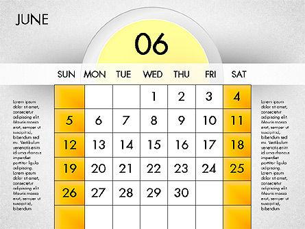 2016 Calendar, Slide 7, 03082, Timelines & Calendars — PoweredTemplate.com