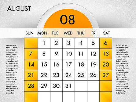 2016 Calendar, Slide 9, 03082, Timelines & Calendars — PoweredTemplate.com