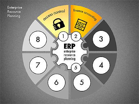 ERP Concept Diagram, Slide 10, 03084, Business Models — PoweredTemplate.com