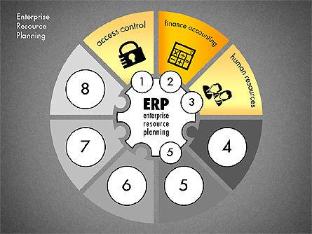 ERP Concept Diagram, Slide 11, 03084, Business Models — PoweredTemplate.com