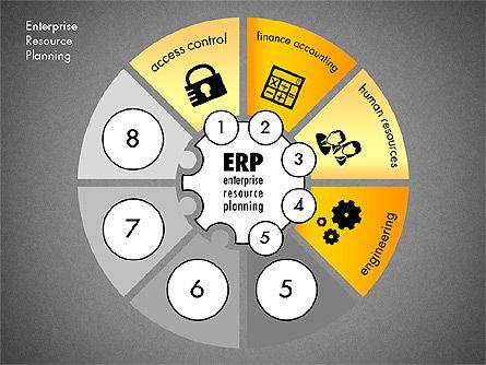 ERP Concept Diagram, Slide 12, 03084, Business Models — PoweredTemplate.com