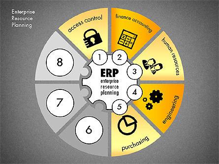 ERP Concept Diagram, Slide 13, 03084, Business Models — PoweredTemplate.com