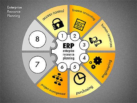 ERP Concept Diagram, Slide 14, 03084, Business Models — PoweredTemplate.com