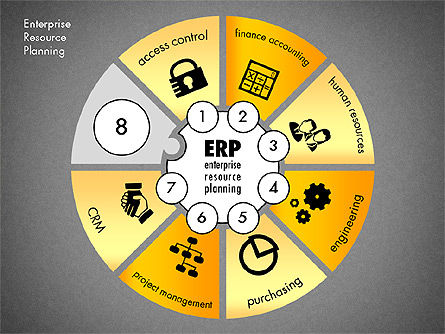 ERP Concept Diagram, Slide 15, 03084, Business Models — PoweredTemplate.com