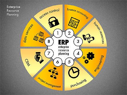 ERP Concept Diagram, Slide 16, 03084, Business Models — PoweredTemplate.com