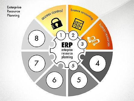 ERP Concept Diagram, Slide 3, 03084, Business Models — PoweredTemplate.com