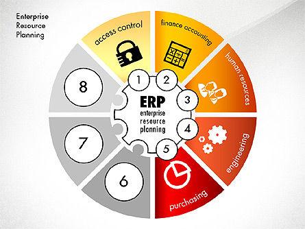 ERP Concept Diagram, Slide 5, 03084, Business Models — PoweredTemplate.com