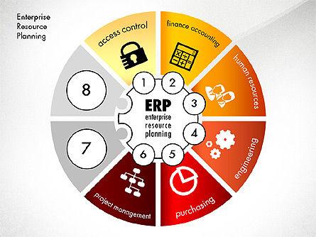 ERP Concept Diagram, Slide 6, 03084, Business Models — PoweredTemplate.com