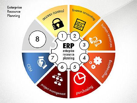 ERP Concept Diagram, Slide 7, 03084, Business Models — PoweredTemplate.com