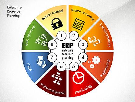 ERP Concept Diagram, Slide 8, 03084, Business Models — PoweredTemplate.com