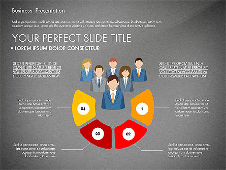 Business Circle, Slide 10, 03088, Business Models — PoweredTemplate.com