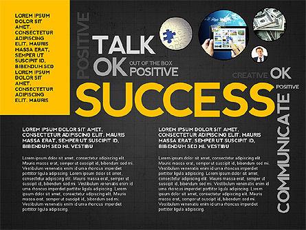Positive Motivation Presentation Template, Slide 11, 03089, Presentation Templates — PoweredTemplate.com