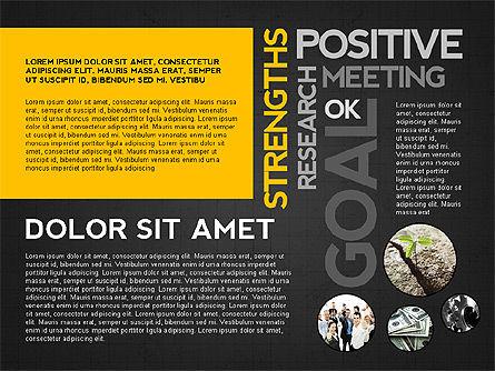 Positive Motivation Presentation Template, Slide 16, 03089, Presentation Templates — PoweredTemplate.com