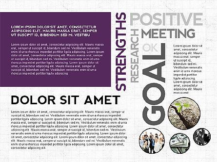 Positive Motivation Presentation Template, Slide 8, 03089, Presentation Templates — PoweredTemplate.com