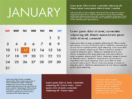 2016 Calendar for PowerPoint, 03090, Timelines & Calendars — PoweredTemplate.com