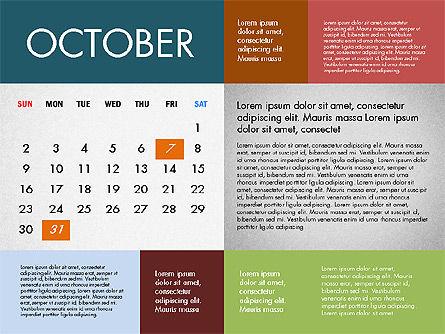 2016 Calendar for PowerPoint, Slide 10, 03090, Timelines & Calendars — PoweredTemplate.com
