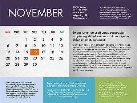 2016 Calendar for PowerPoint, Slide 11, 03090, Timelines & Calendars — PoweredTemplate.com