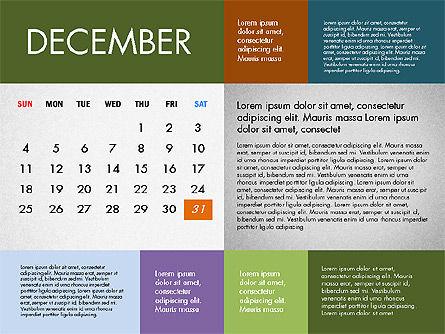2016 Calendar for PowerPoint, Slide 12, 03090, Timelines & Calendars — PoweredTemplate.com