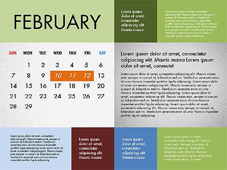 2016 Calendar for PowerPoint, Slide 2, 03090, Timelines & Calendars — PoweredTemplate.com