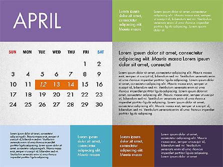 2016 Calendar for PowerPoint, Slide 4, 03090, Timelines & Calendars — PoweredTemplate.com