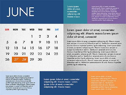 2016 Calendar for PowerPoint, Slide 6, 03090, Timelines & Calendars — PoweredTemplate.com