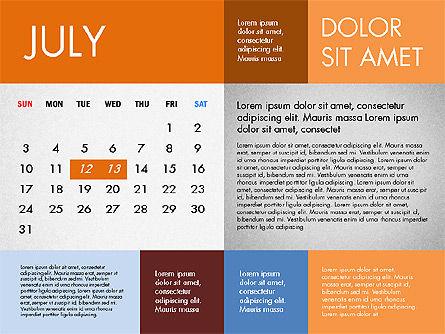 2016 Calendar for PowerPoint, Slide 7, 03090, Timelines & Calendars — PoweredTemplate.com