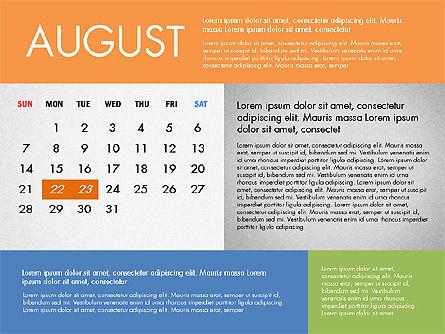 2016 Calendar for PowerPoint, Slide 8, 03090, Timelines & Calendars — PoweredTemplate.com