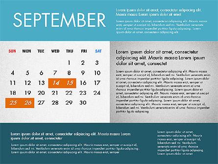 2016 Calendar for PowerPoint, Slide 9, 03090, Timelines & Calendars — PoweredTemplate.com