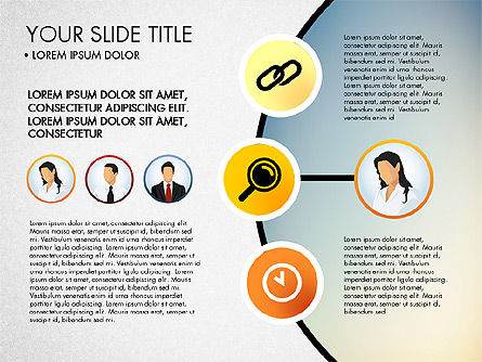 Business Circle with Icons, 03092, Presentation Templates — PoweredTemplate.com