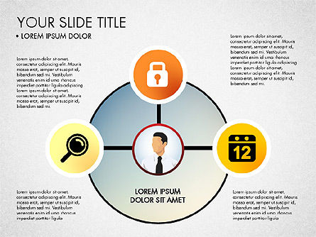 Business Circle with Icons, Slide 2, 03092, Presentation Templates — PoweredTemplate.com