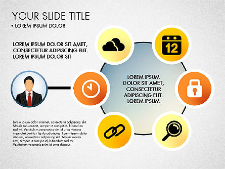 Business Circle with Icons, Slide 3, 03092, Presentation Templates — PoweredTemplate.com