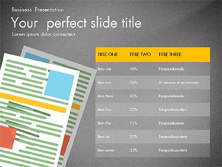 Newsmaking Presentation Template, Slide 14, 03093, Presentation Templates — PoweredTemplate.com