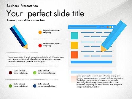 Newsmaking Presentation Template, Slide 5, 03093, Presentation Templates — PoweredTemplate.com