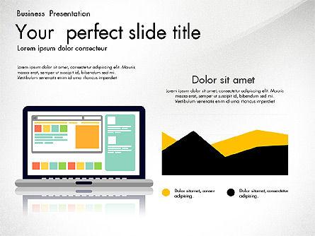 Newsmaking Presentation Template, Slide 8, 03093, Presentation Templates — PoweredTemplate.com