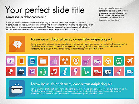Vivid Presentation with Flat Design Icons Slide 2