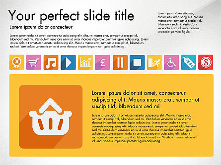 Vivid Presentation with Flat Design Icons Slide 3