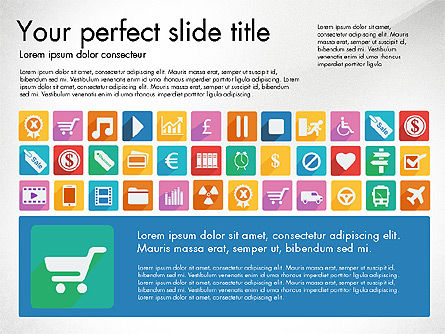 Vivid Presentation with Flat Design Icons Slide 4